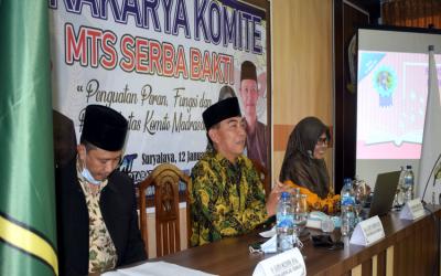 Dongkrak Peran dan Fungsi Komite Madrasah, MTs Serba Bakti gelar Lokakarya